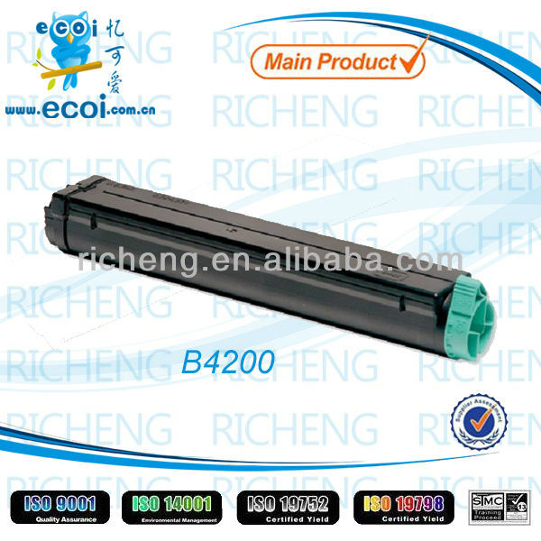 Compatible laser toner cartridge for OKI B4200 white toner