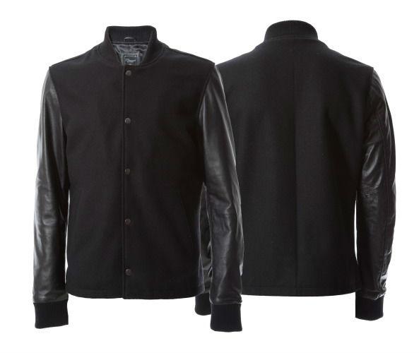 фото куртки с кожаными рукавами