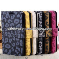 Luxury protective PU Leopard case for samsung galaxy note i9220