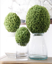 wholesale artificial plastic flower artificial grass ball for wedding decoration