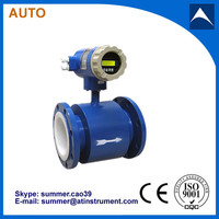 Liquid water electro magnetic flowmeter/flow meter made in China