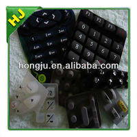 Telephone silicone keypads conductive carbon pills