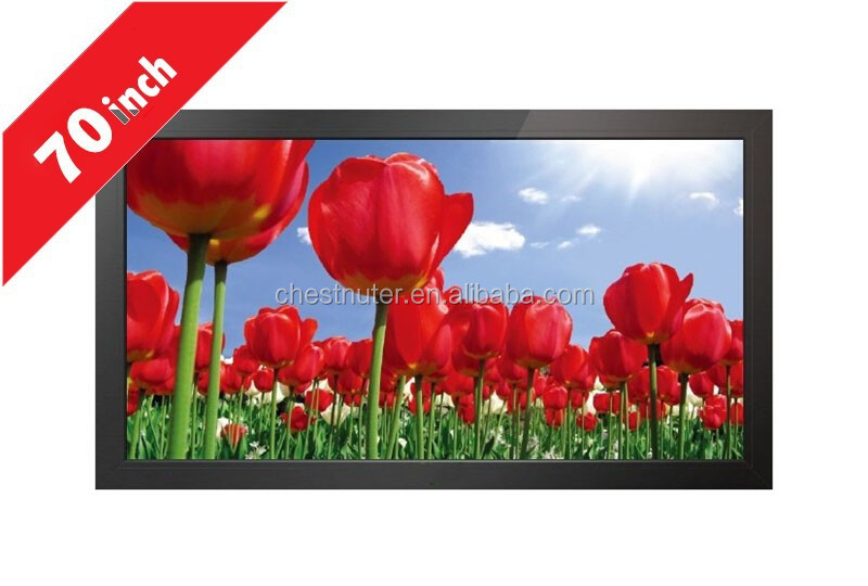 windows 70 Inch Customized wall mounted LCD Digital Signage IP65 Waterproof for advertising