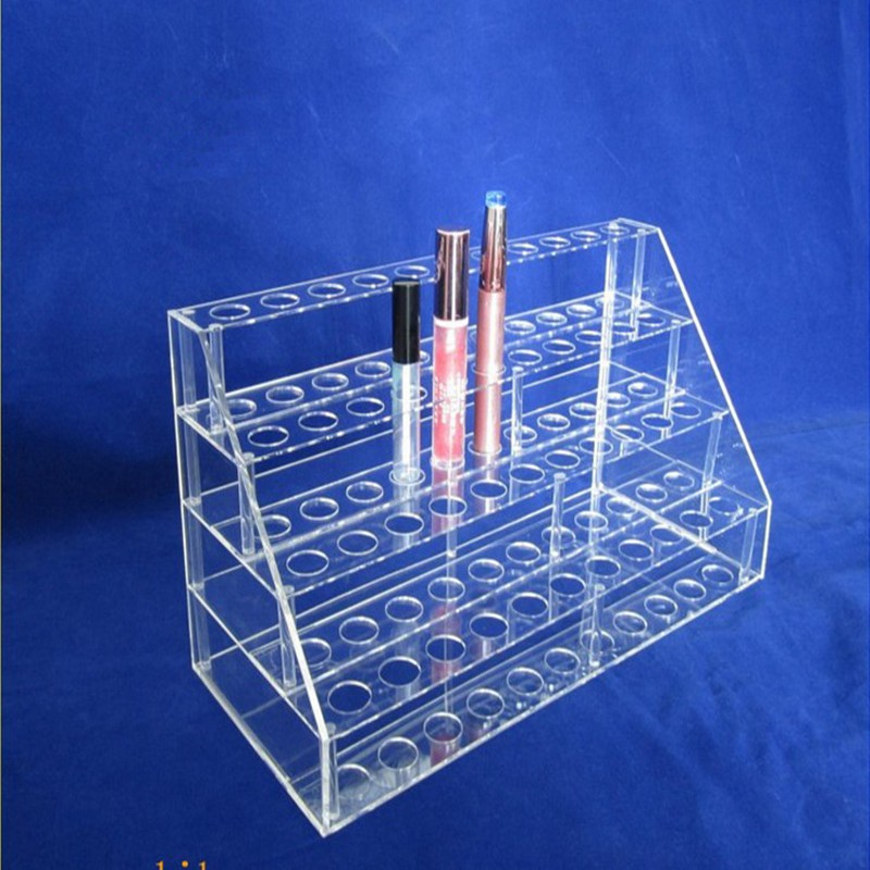 Plastic Makeup Organizer 4 Tiers Acrylic Nail Polish Display Rack