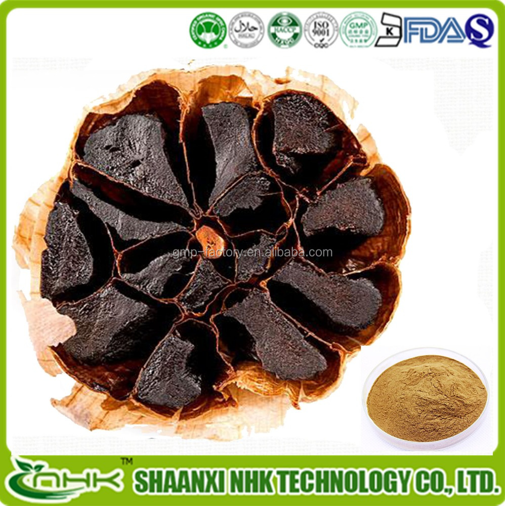 High Quality Fermented Black Garlic Extract Raw Material Powder Made In Japan For Health Foods And Dietary Supplement