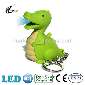 LED Dinosaur Sound Keychain