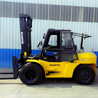 China brand new HEAVY forklift truck 10 Ton with cabin heater CPCD100