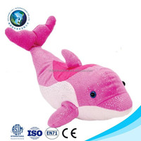 Cartoon soft plush dolphin toy big cute children toy pink stuffed soft plush toy dolphin