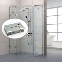 0 degree casting stainless steel shower door glass cabinet hinge