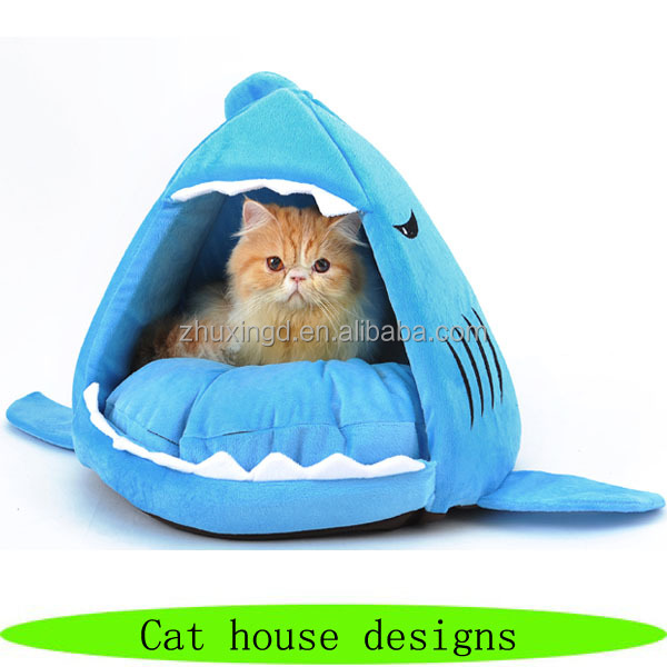 Shark house for cats, pet house designs, funny pet designs house