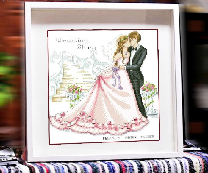 cross stitch kits wedding story