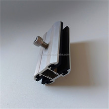 best price Aluminum frameless solar panel thin mid film clamp with high quality solar power solar tile roof seam clamp