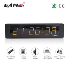 [Ganxin]New Design 1'' Indoor Led Digital Clock With Timer Sports Race Timer Clock Electronic Digital Led Wall Clock