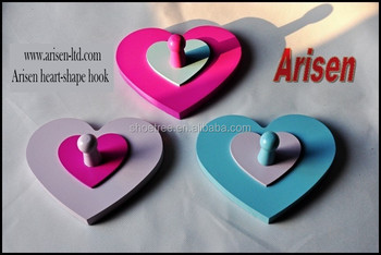 3 Arisen heart-shape wall hooks