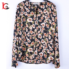 soft breathable garments chiffon material fashion ladies clothes sexy lady tops woman blouse