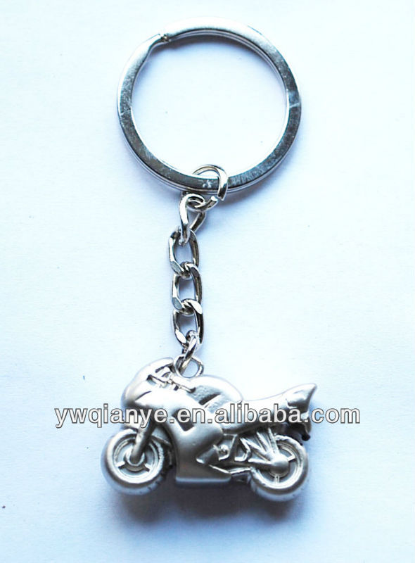 Custom gift motorcycle shape metal keychain