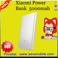 Hot ! Original mi Power Bank 5000mAh Slim Powerbank 5000 Mi Portable Charger for Mobile Phones sliver color china suppliers