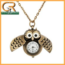 2015 vintage erotic owl pocket watches curren brand wrist watches