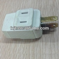 2 flat pin electric plug and socket