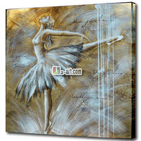 Flying abstract ballerina painting