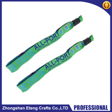 Fast delivery time custom embroidered wristbands,woven wristbands with your own logo/text