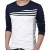 Men Color Block Stripes T Shirt