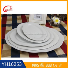 resturance and hotel ceramic buffet plate