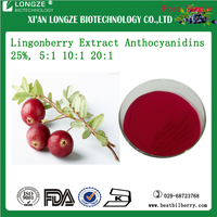Lingonberry Extract Cranberry extract Anthocyanidins 5%-25% UV Anthocyanins 5%-30% HPLC