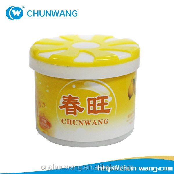 Hot sale custom home scents wholesale solid aroma air freshener gel container