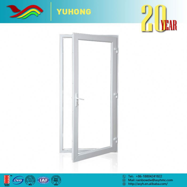 YH New product best price grill design low-E glass pvc doors windows