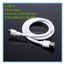 Wholesale Colorful High Speed 200cm 6.6ft 2m Micro USB2.0 Cable for handheld game consoles