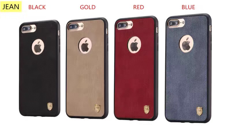 Fashion hot selling Jean TPU gel case back cover protector case for iphone 7 and 7 plus
