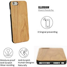 cherry wood manufacturer mobile phone case factory wood for iphone 6 7