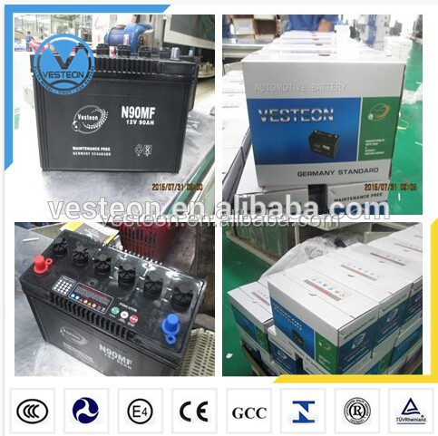 Truck lead acid MF battery for 12v 220ah