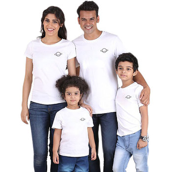 Plus size custom t-shirts family matching summer printed tops