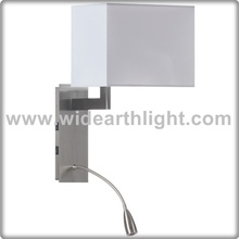UL Approved Energy Saving Bulb And LED Reading Hotel Bedside Wall Light With Switches W50322