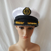 MHH122 good quality Party officer sailor navy cap/ Captain navy hat