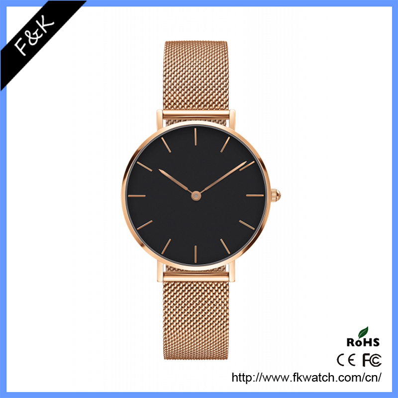 genuine romanson leather quartz watch