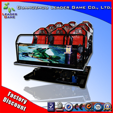 Leader Game quality assured black red 9 seats 5d cinema 7d theater 9d 12d kino cinema equipment for sale