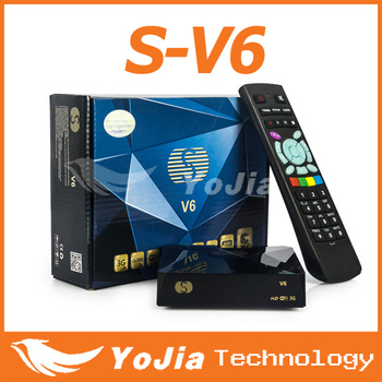 S-V6 Mini Digital Satellite Receiver S V6 with AV2xUSB WEB TV USB Wifi Biss Key S-V6