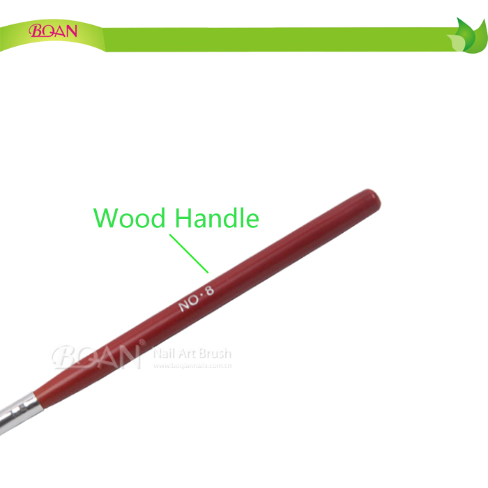 2015 BQAN New Design W Shape Wood Handle Nail Gel Brush