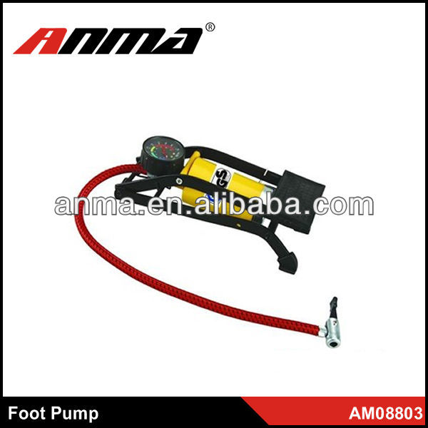 Eco-friendly design bicycle single cylinder\car air foot pump