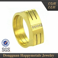 Best-Selling Oem Design Custom Lasered Gold Ring Hallmarks