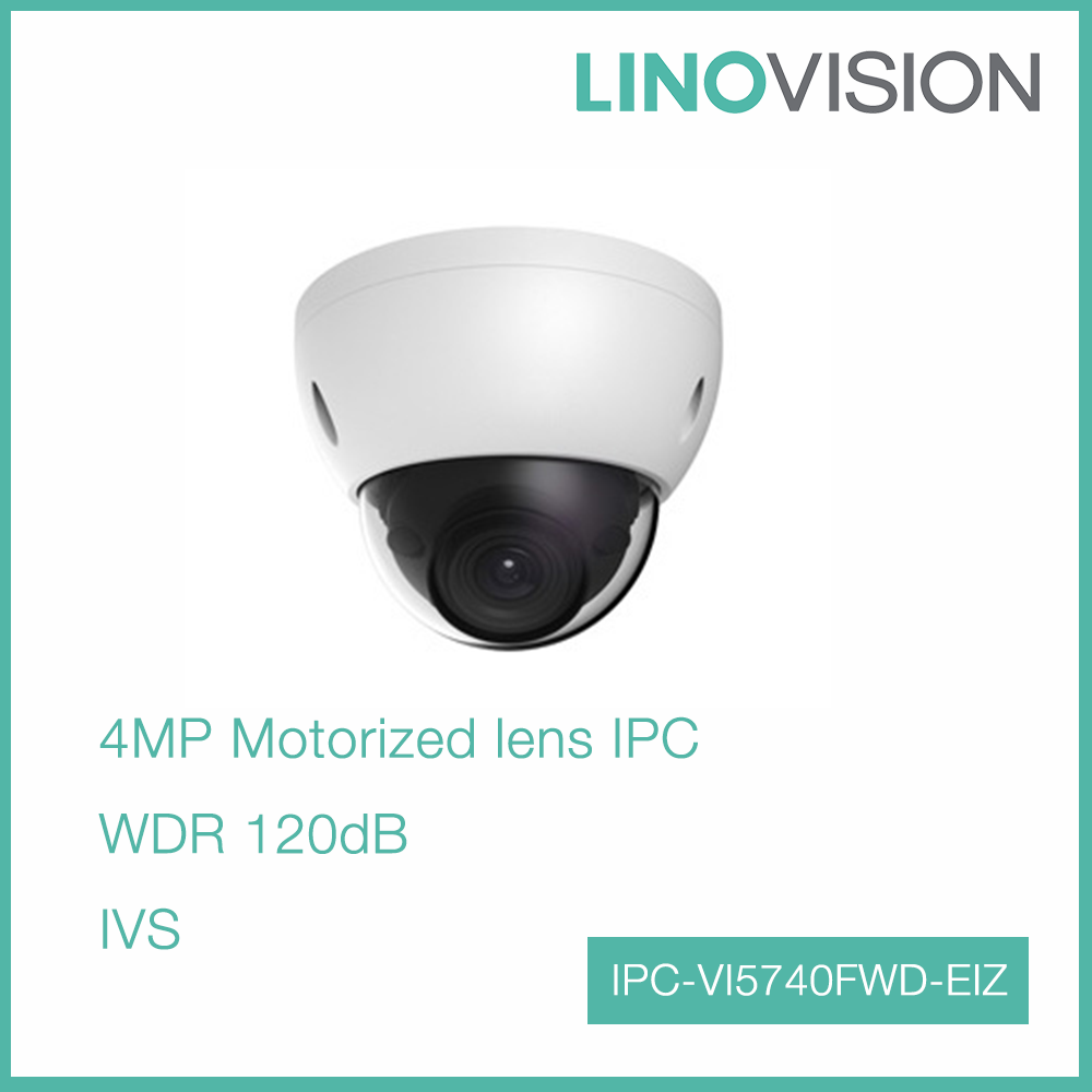 4MP Vandal-proof Motorized Full Hd WDR PoE IP Dome Camera with 50m IR