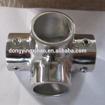 STAINLESS STEEL 90 DEGREE 4-WAY TEE CONNECTOR