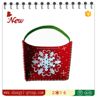XM9-10 Christmas decoration and gifts handmade felt gift bag with snowflake pattern