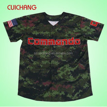 Sublimated custom digital camo baseball jerseys cc-055