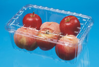 disposable plastic red rapefruit packaging box