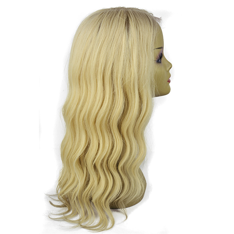 shipping fast top quality best price virgin indian remy long blonde natural body wave human hair full lace wig