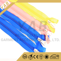 Different color open end nylon zipper custom length for bedding cover